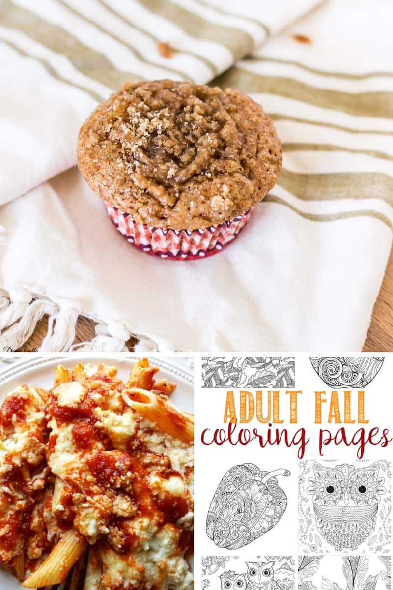 Spiced Pumpkin Streusel Muffins, Baked Penne Pasta, Fall Coloring Pages