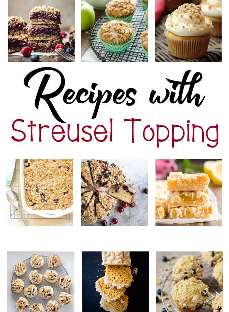 Recipes with Streusel Topping