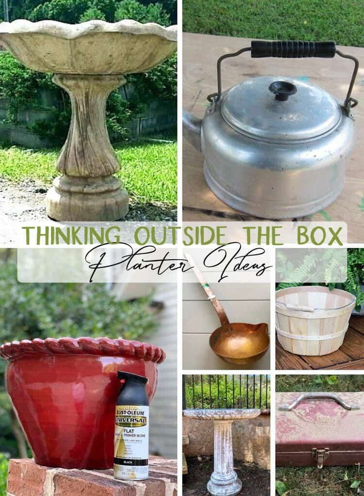 Creative, thinking outside the box, planter ideas - lots from thrift store items!