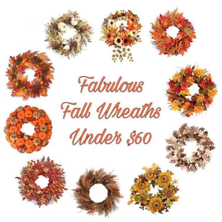 Fabulous Fall Wreaths under $60