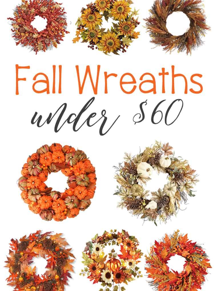 Fabulous Fall Wreaths under $60