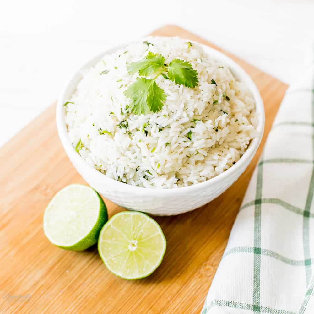 Cilantro Lime Rice made in a pressure cooker