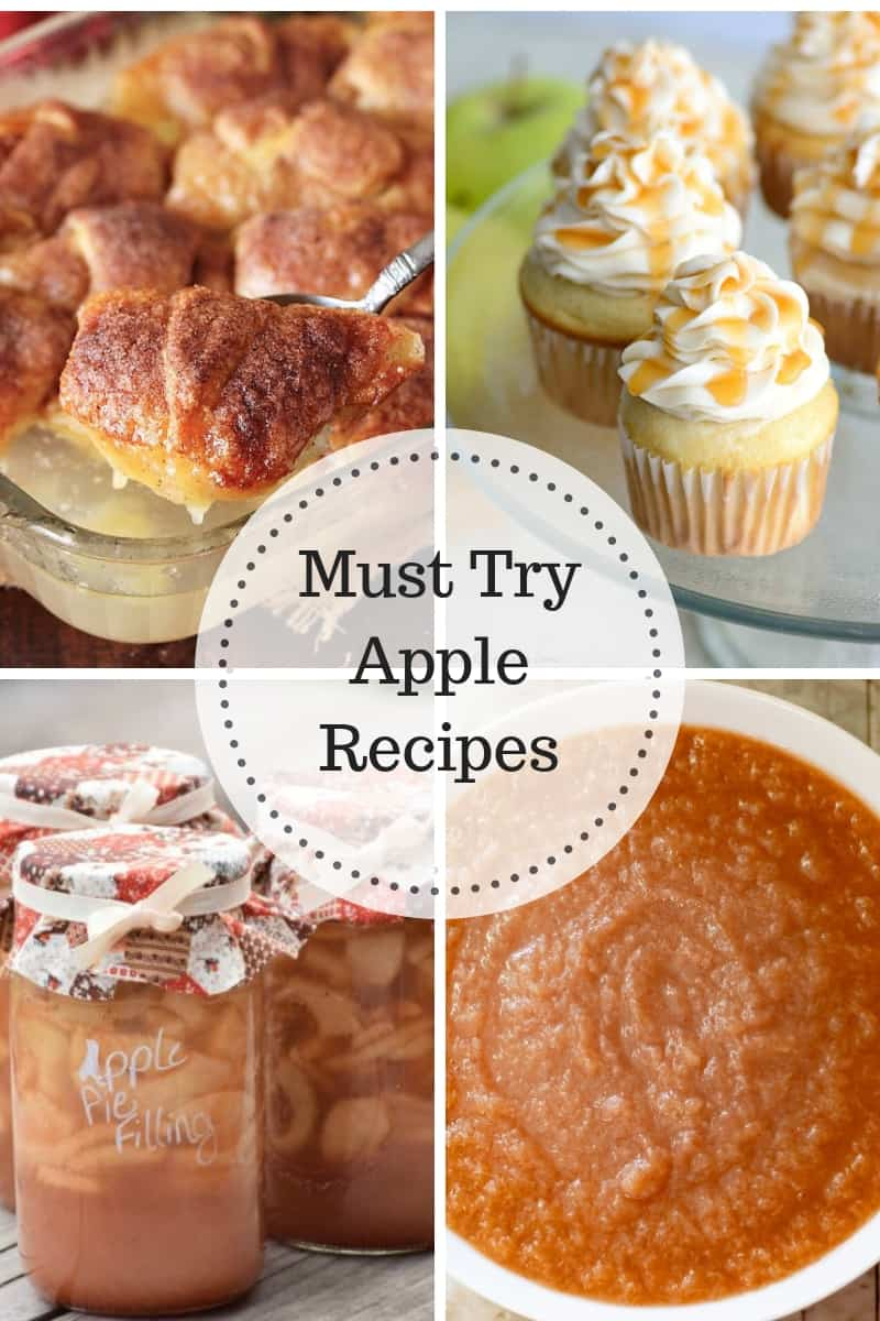 Must Try Apple Recipes: Apple Dumplings, Apple Cupcakes, Apple Pie Filling and Applesauce