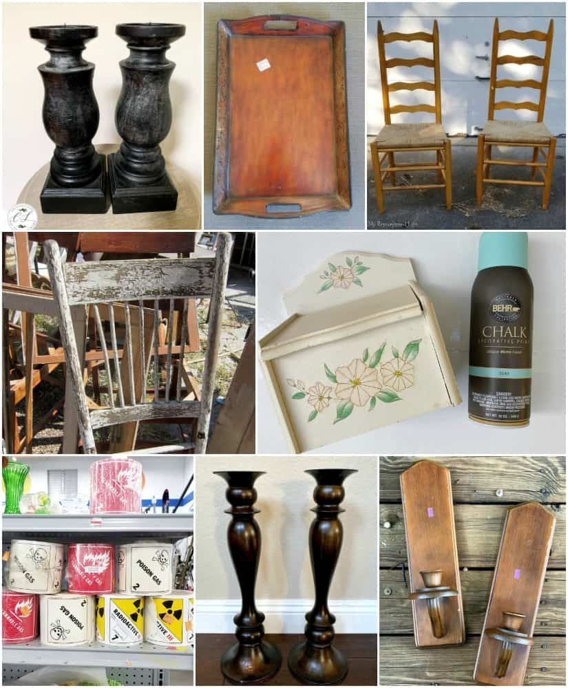 Thrift Store Makeover below - click to see the awesome afters!