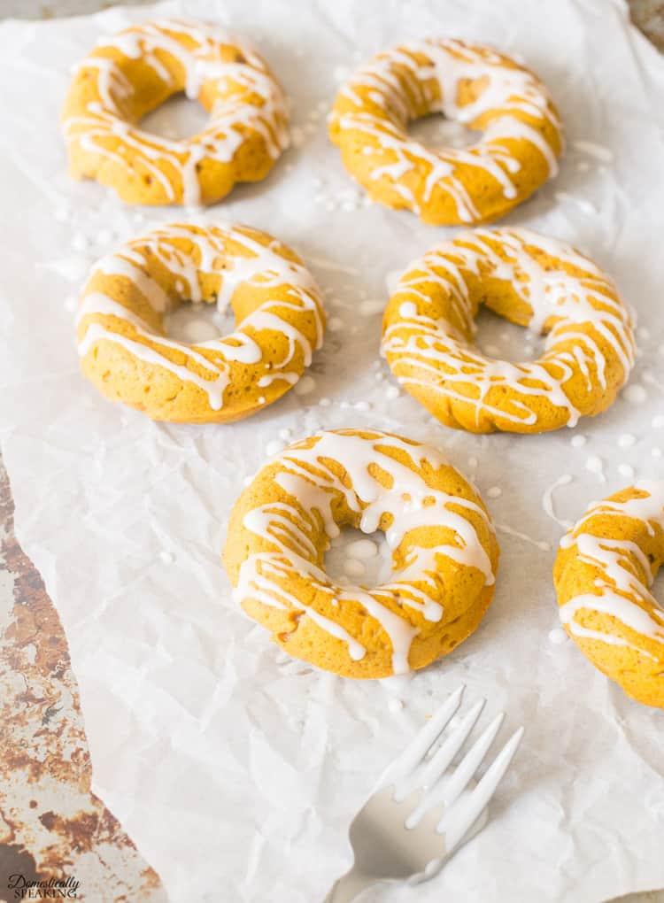 Fall Pumpkin Spice Donuts