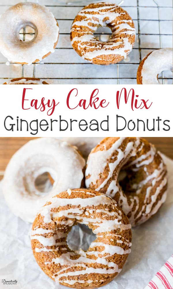 Cake mix gingerbread donuts