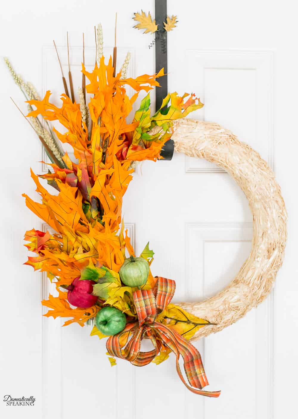 Fall Apple Leaf Wreath Craft