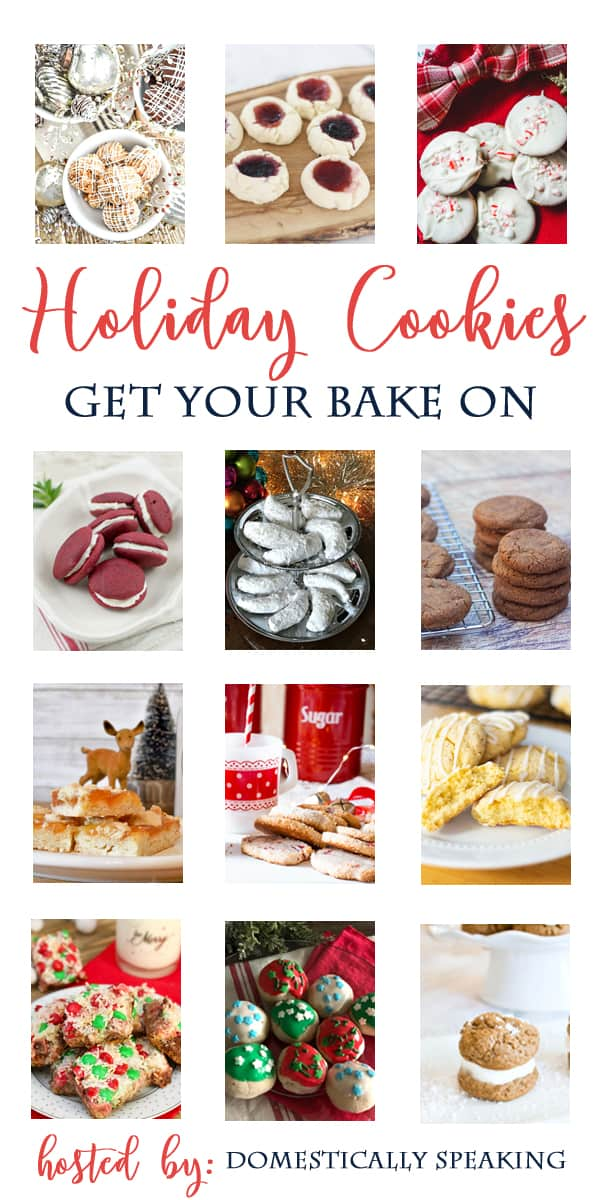 Delicious collection of Holiday Cookie Recipes! Cookies perfect for parties, neighbors and Christmas gifts.