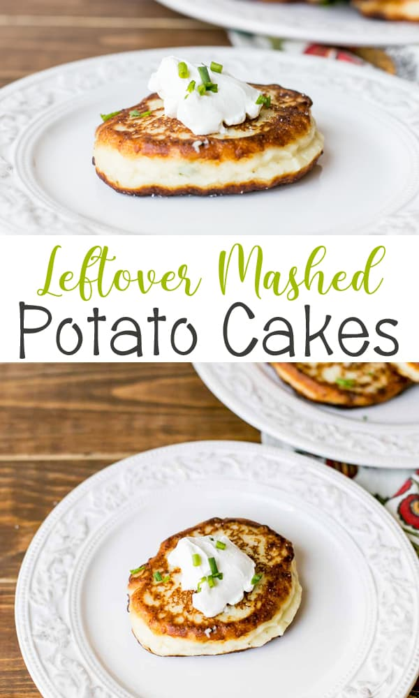 Leftover Mashed Potato Cakes are great way to use up those leftovers! They are easy to make and full of flavor.