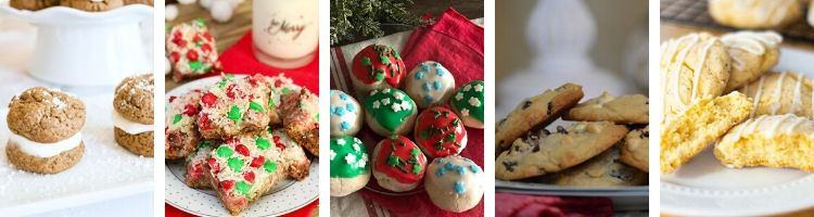 5 images of Christmas cookies