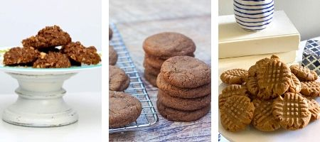 3 images of Christmas cookies