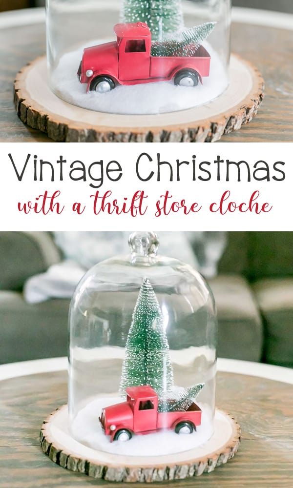 Vintage Christmas Wonderland with a Thrift Store Cloche