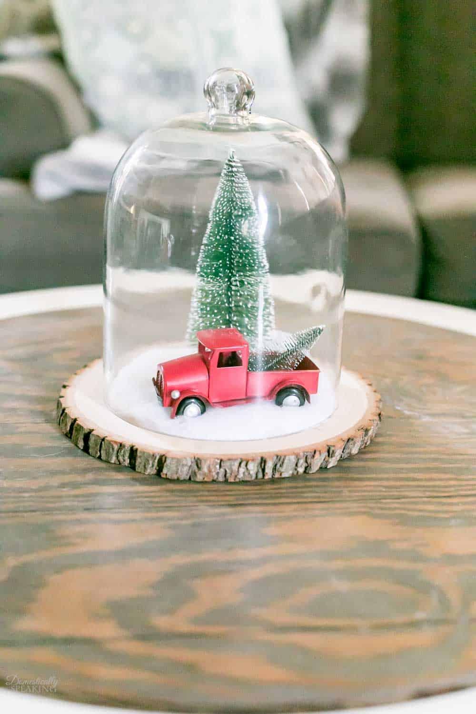 Vintage Christmas Wonderland Cloche