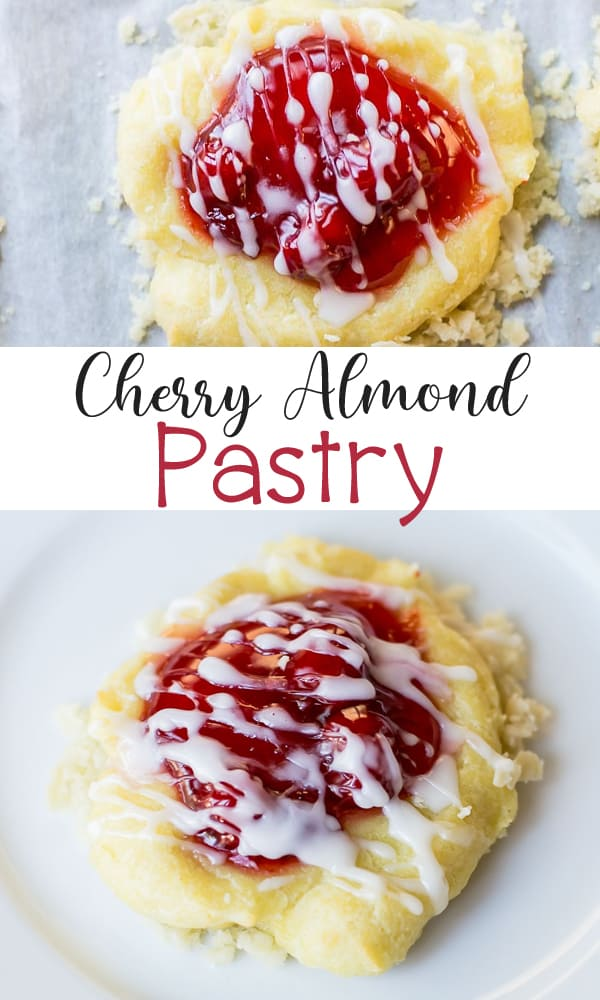 Cherry Almond Pastry Recipe - an easy to make pastry