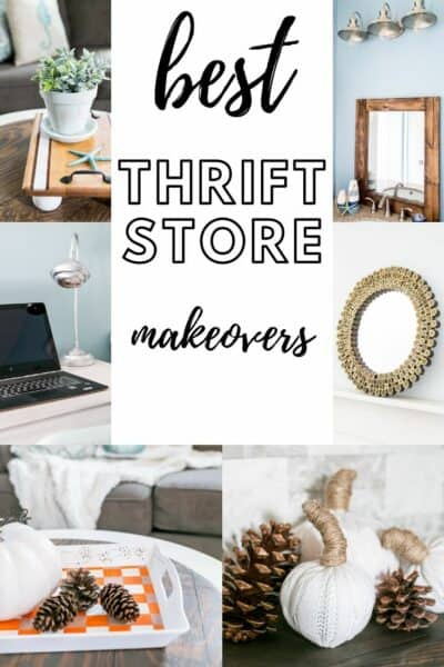 Best Thrift Store Makeovers! Over 100 thrifted makeovers for your home decor.