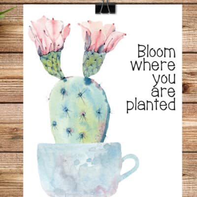 Bloom Where You are Planted Printable