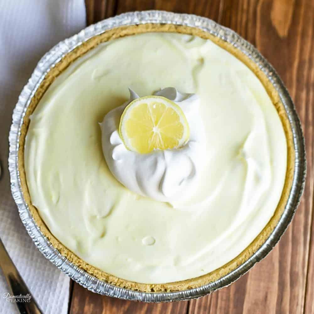 Lemon Cream Pie with Graham Cracker Crust