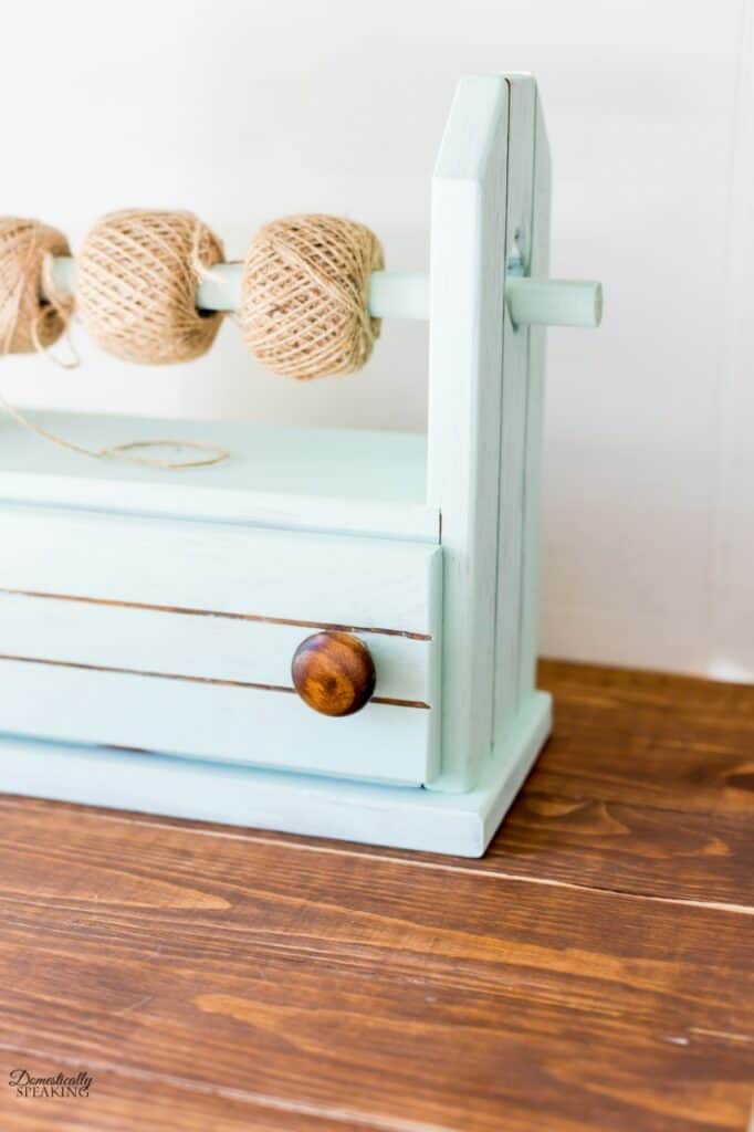 Milk Painted Craft Storage