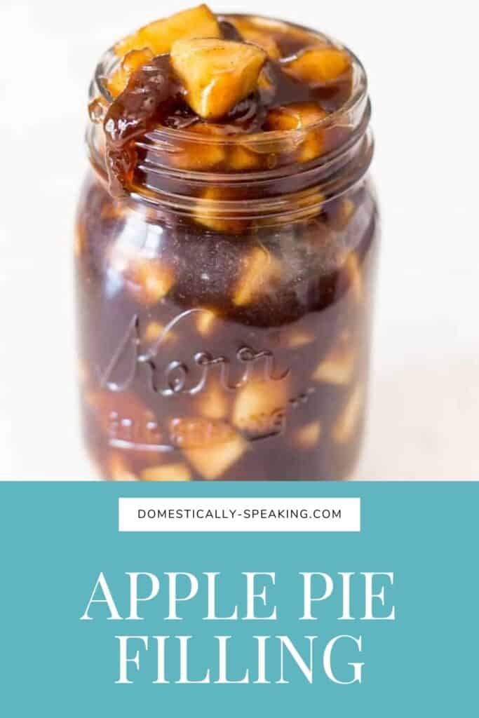 Apple Pie Filling using brown sugar, cinnamon, nutmeg, cloves, and more.