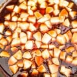 Apples simmering