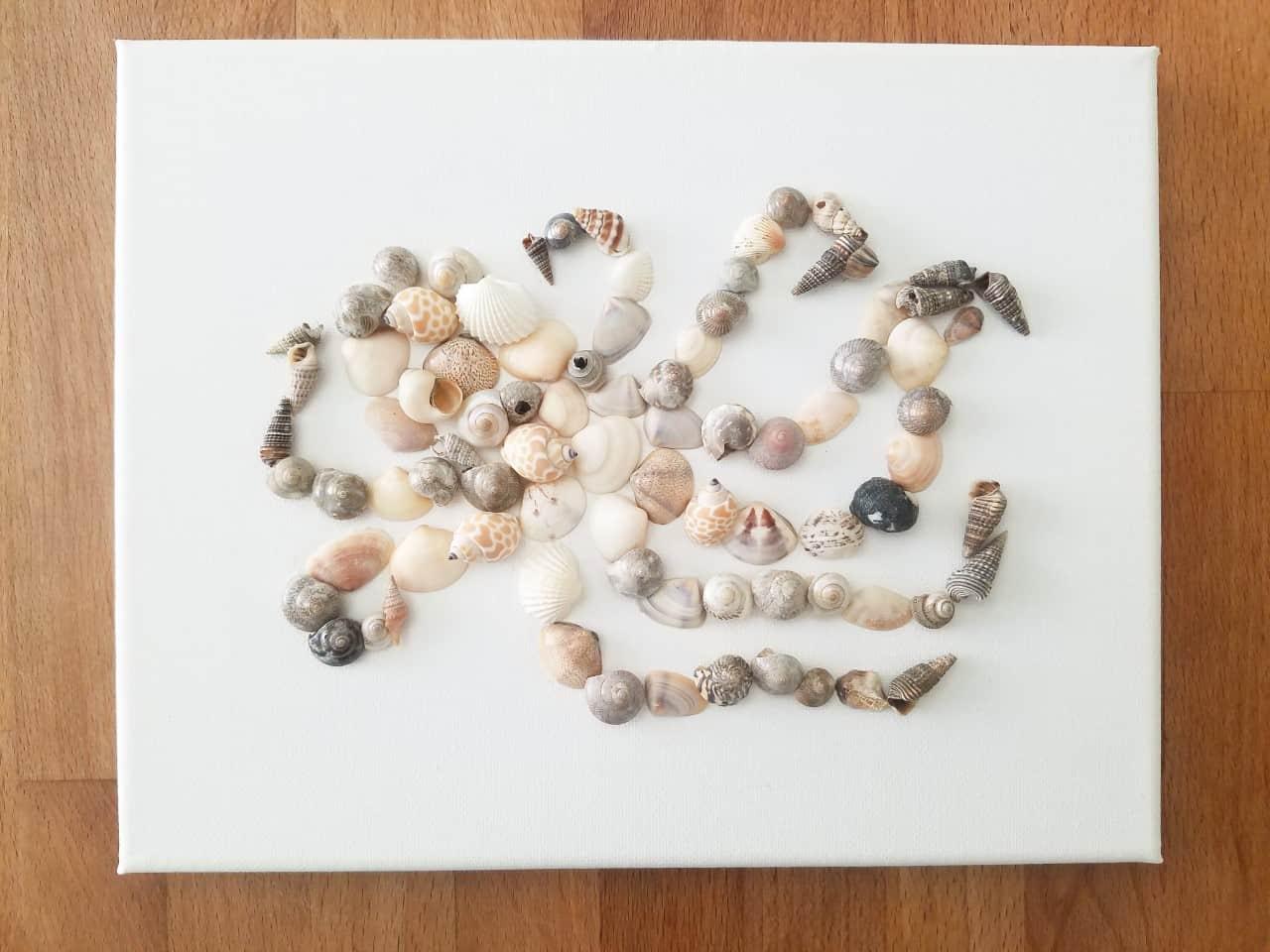 Seashell Octopus Art