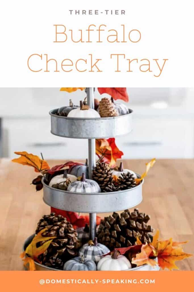 Three-Tier Buffalo Check Tray