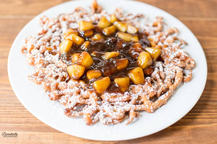 Apple Topping on Funnel Cake