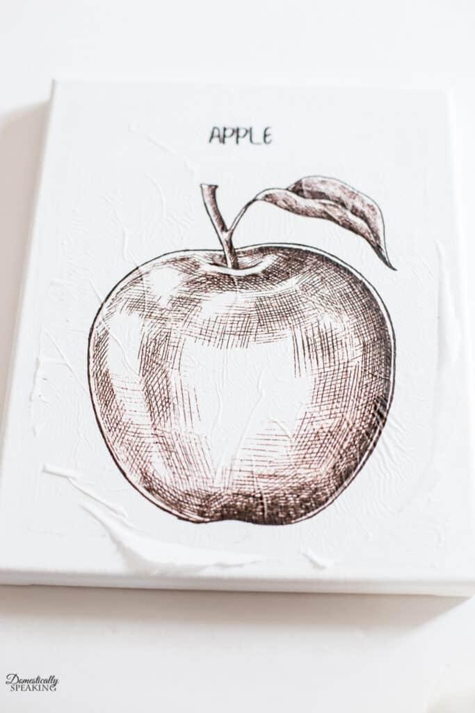 Fall image mod podged onto canvas.