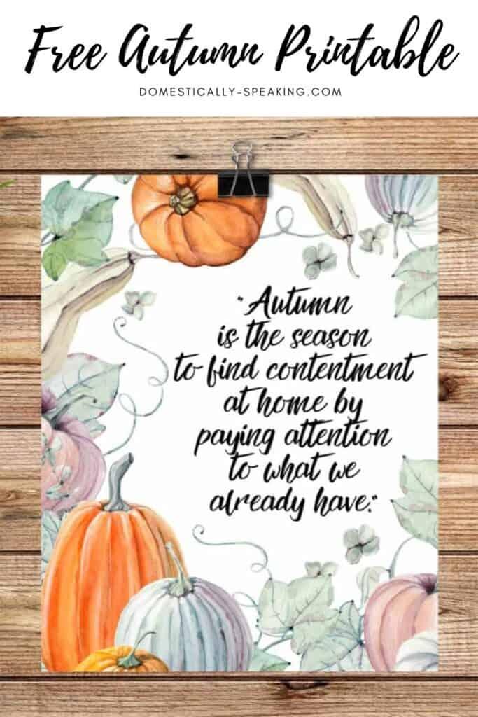 Free Autumn Printable