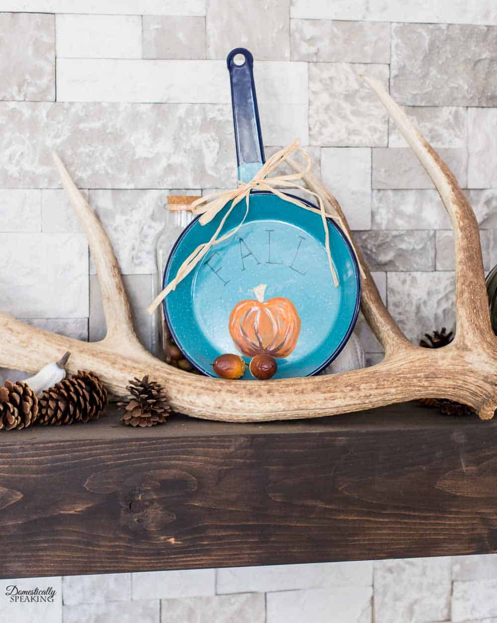 Painted Pumpkin on a Frying Pan