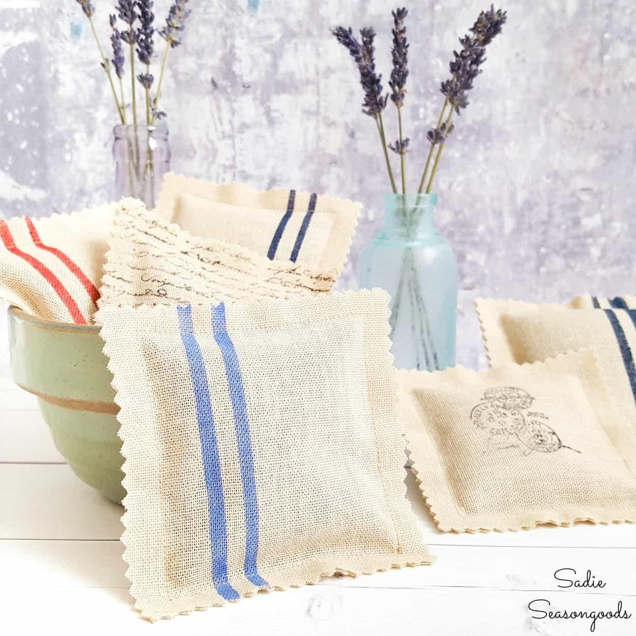 Grain Sack Lavender Sachets