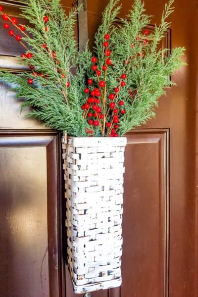 Farmhouse Front Door Christmas Basket