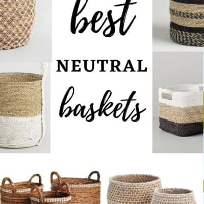 Gorgeous Neutral Baskets