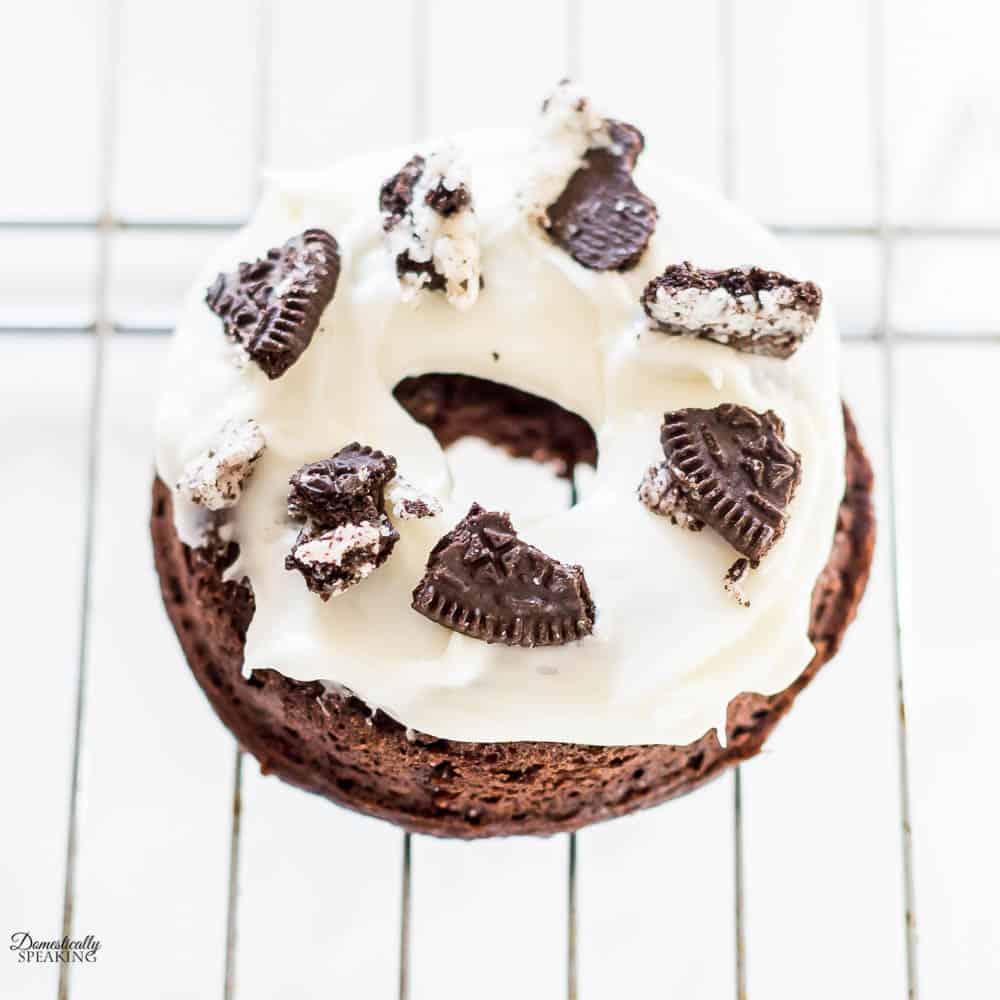 Oreo Chocolate Baked Donuts