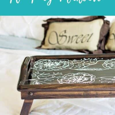 TV Tray Makeover