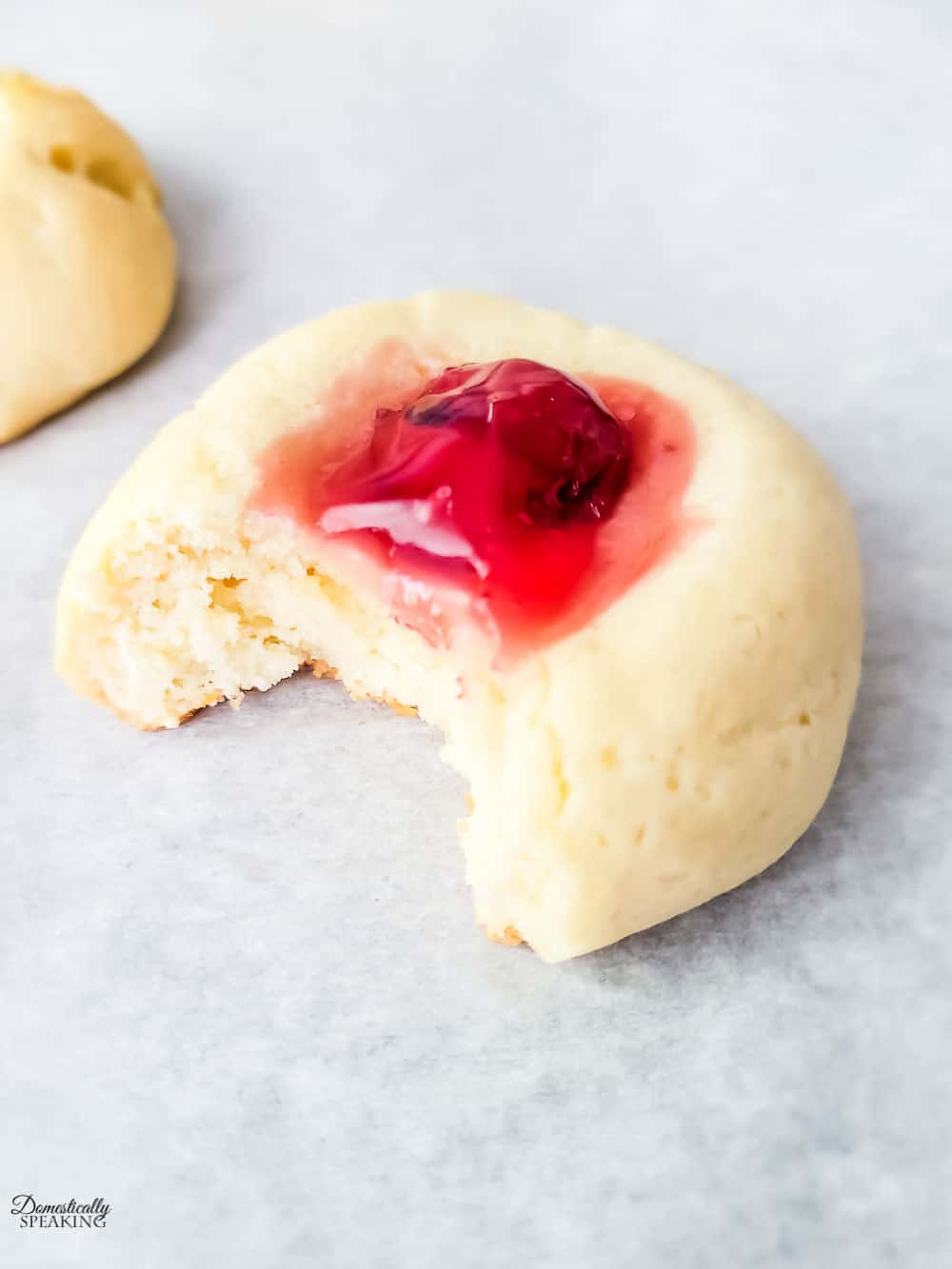 Cherry Cream Cheese Thumbprint Cookies