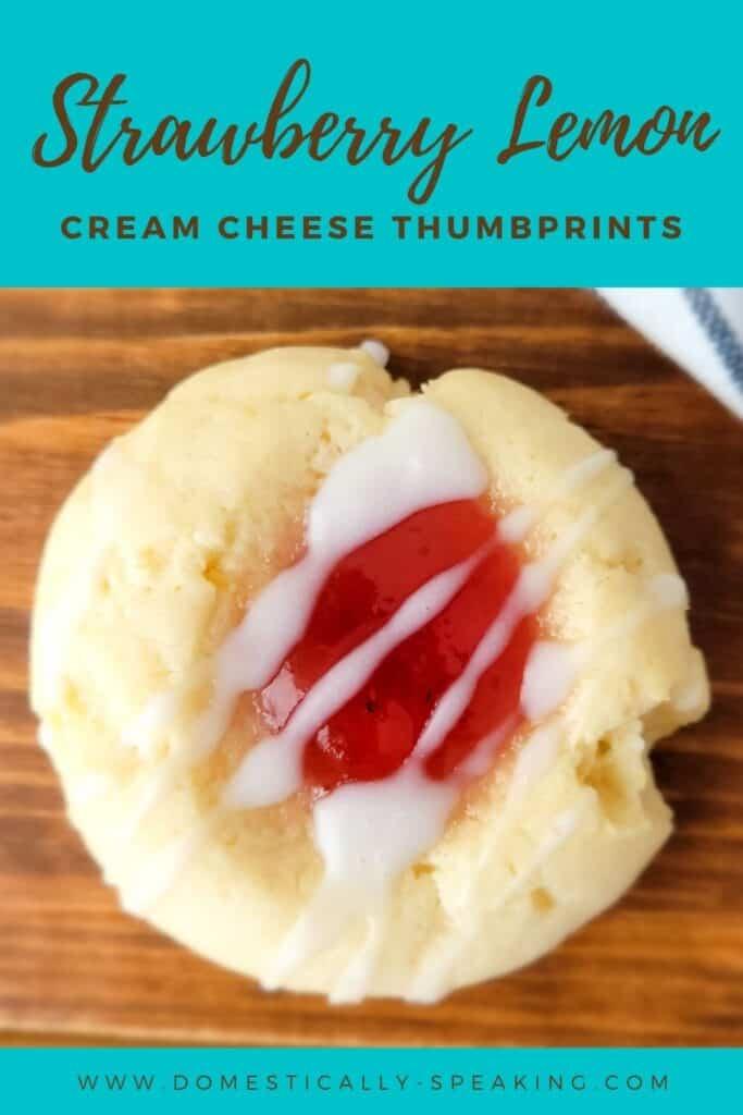 Strawberry Lemon Thumbprint Cookies