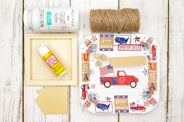 Supplies for 4th of July Craft