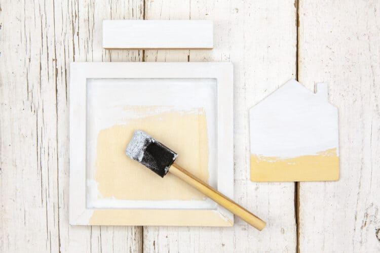 Paint wood piece with chalk paint