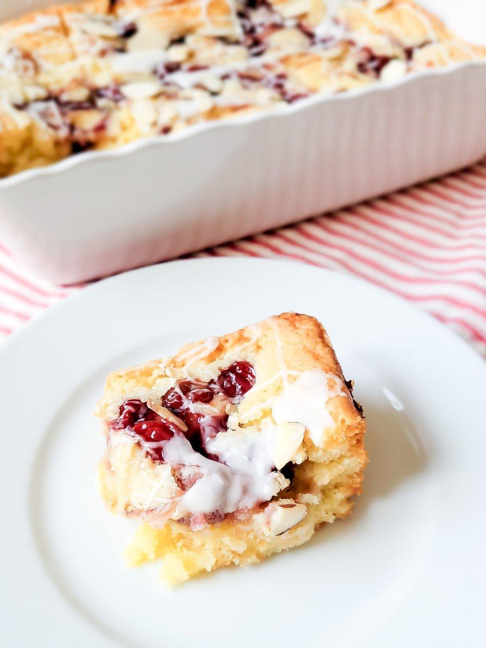 Almond Cherry Bar Cookies