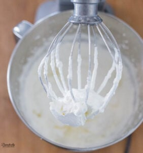 Whipping the heavy cream