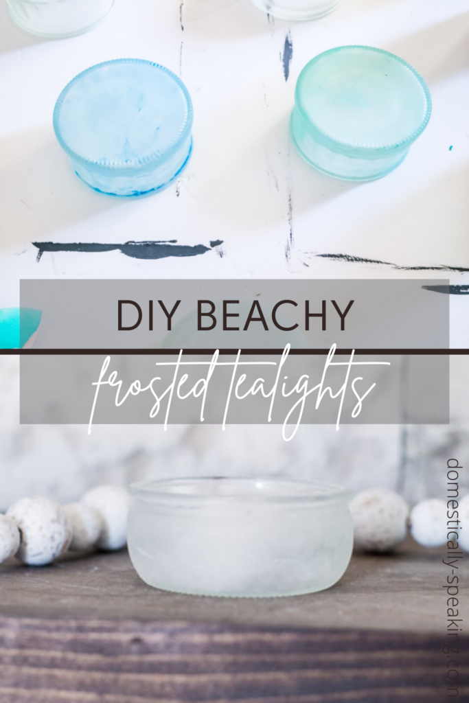 DIY Beachy Frosting Tealight Candleholders