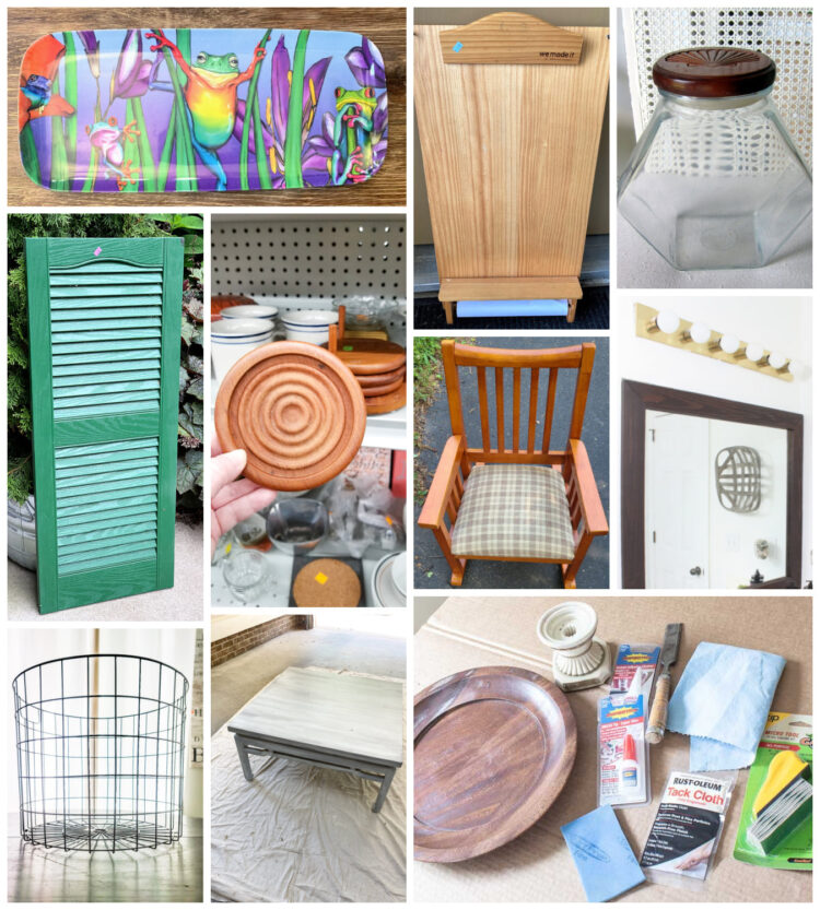 Thrift Store Makeovers Before