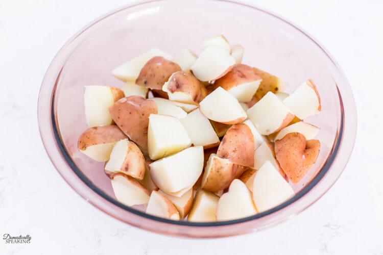 Fork tender potato chunks