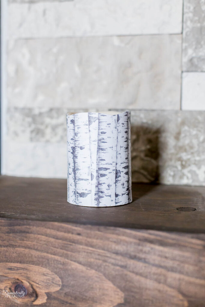 DIY Faux Birch Candles
