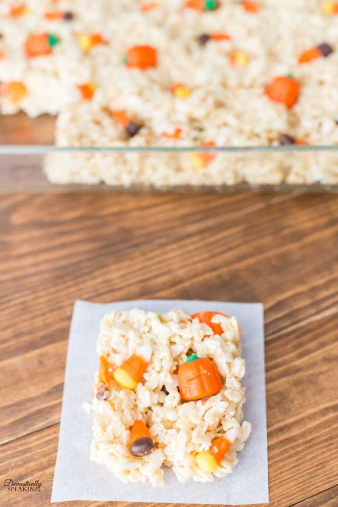Harvest Rice Krispie Treats
