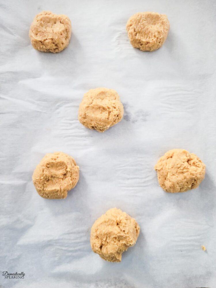 Pumpkin Cream Cheese Cookie batter ready to bake