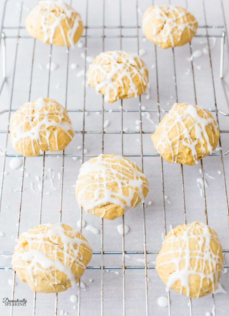Drizzle on top of Pumpkin Cream Cheese Cookies