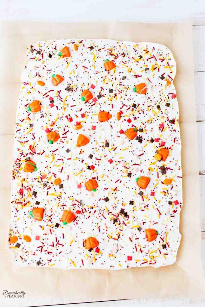 Autumn White Chocolate Bark